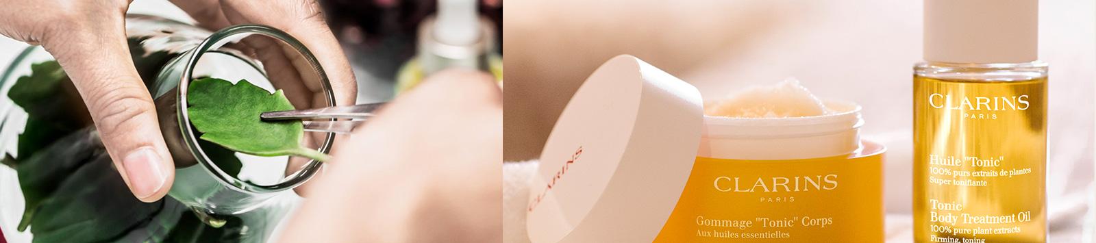 Liście w szkle laboratoryjnym, Olejek i Peeling Tonic