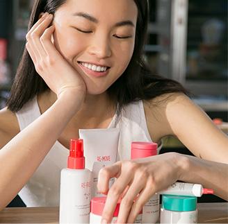 Dziewczyna z kosmetykami