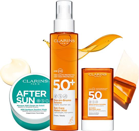 Opakowania nowych produktów pielęgnacji przeciwsłonecznej